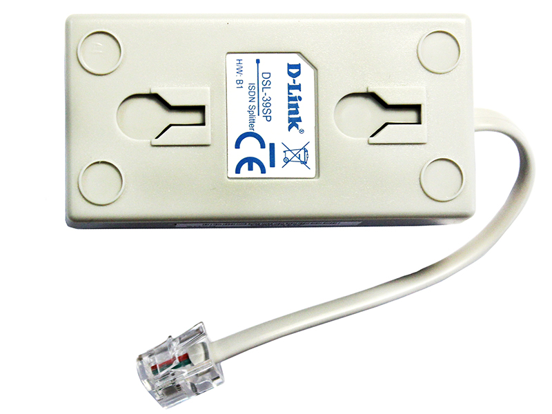 Сплиттер D-Link DSL-39SP Сплиттер ADSL Сплиттер ADSL Annex B маршрутизатор d link dsl 2640u ra u2a adsl внешний беспроводной ethernet роутер 802 11n 4xlan 1xadsl сплиттер annex a