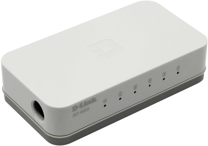 цена на Коммутатор D-Link DES-1005C/A1A Неуправляемый коммутатор с 5 портами 10/100Base-TX и функцией энергосбережения