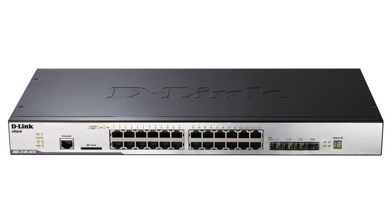 Коммутатор D-Link DGS-3120-24TC/B1ARI Управляемый коммутатор 3 уровня с 20 портами 10/100/1000Base-T, 4 комбо-портами 100/1000Base-T/SFP, 2 портами 10 коммутатор d link des 1210 52 c1a настраиваемый коммутатор websmart с 48 портами 10 100base tx 2 портами 10 100 1000base t 2 комбо портами 100 1000b