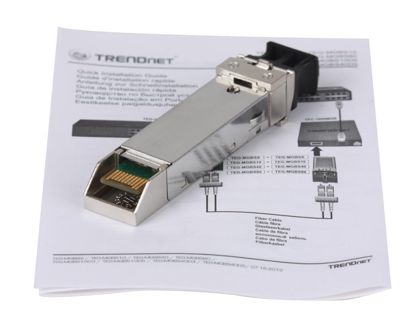 Модуль Trendnet TEG-MGBS10 Одномодовый модуль Mini-GBIC, тип LC (10 Км) трансивер hpe j4859c procurve gigabit lx lc mini gbic