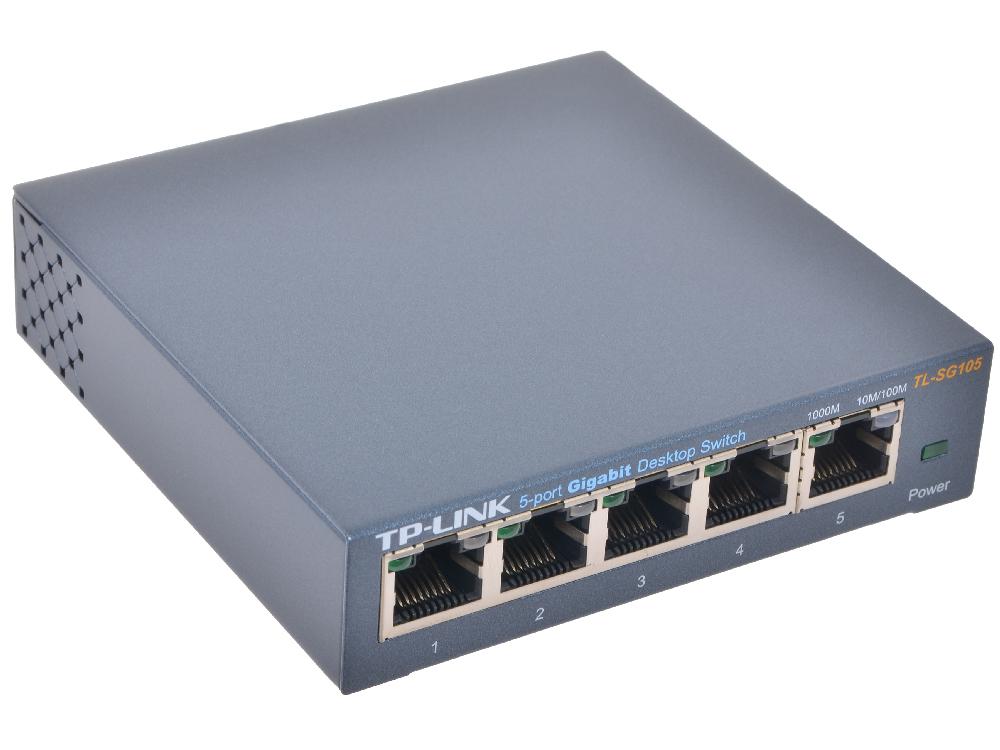 цена на Коммутатор TP-LINK TL-SG105 Гигабитный настольный 5-портовый коммутатор
