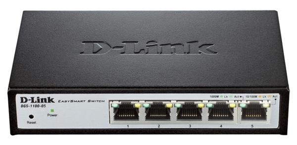 Коммутатор D-Link DGS-1100-05/A1A Настраиваемый компактный коммутатор EasySmart с 5 портами 10BASE-T/100BASE-TX/1000BASE-T коммутатор d link dgs 1100 05 a1a настраиваемый компактный коммутатор easysmart с 5 портами 10base t 100base tx 1000base t