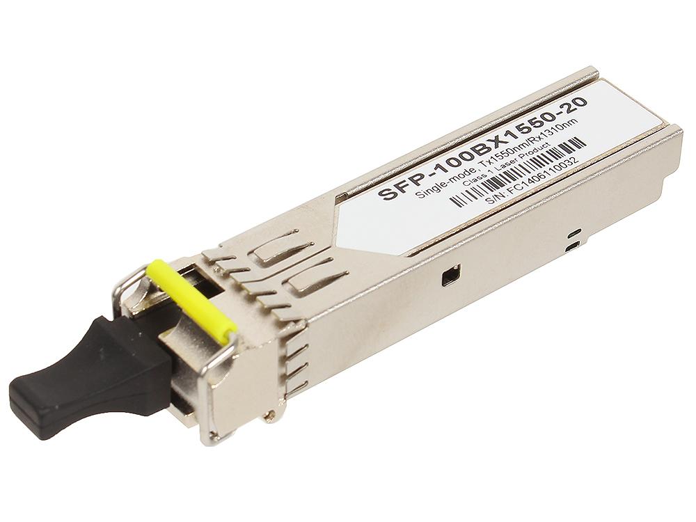 цена на Трансивер ZyXEL SFP-100BX1550-20 Одноволоконный SFP-трансивер 100BX 1550 нм для одномодового оптоволоконного кабеля на расстояние до 20 км