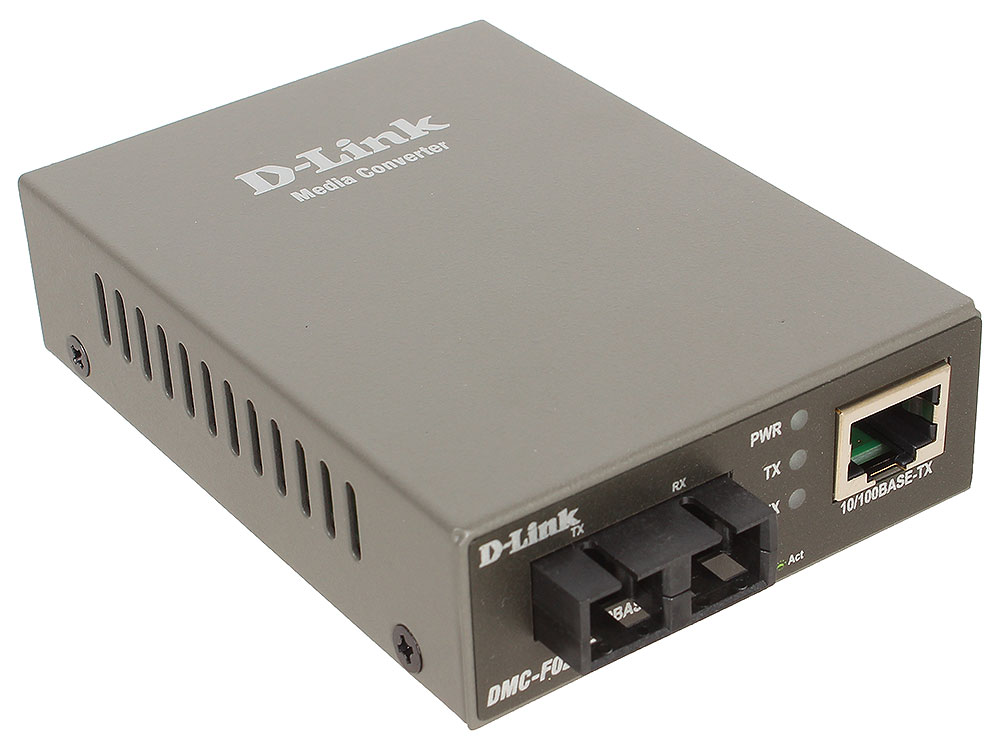 Медиаконвертер D-Link DMC-F02SC/A1A Медиаконвертер с 1 портом 10/100Base-TX и 1 портом 100Base-FX с разъемом SC для многомодового оптического кабеля ( модуль d link snmp module for dmc 1000 dmc 1002