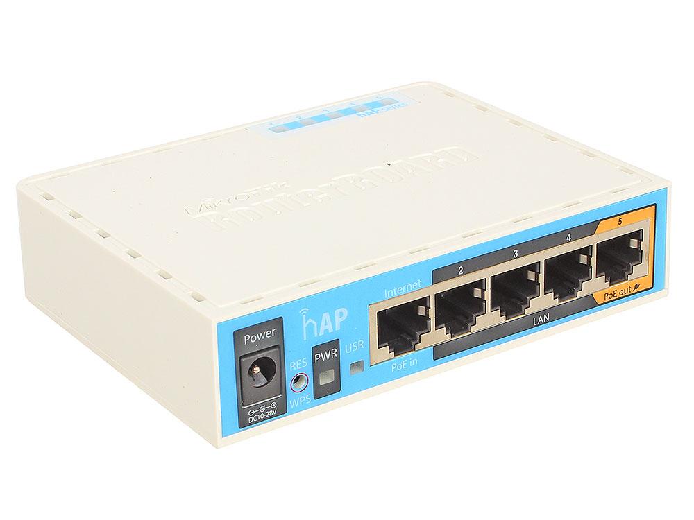 Маршрутизатор MikroTik RB951Ui-2nD hAP 802.11n 300Mbps 2.4ГГц 4xLAN