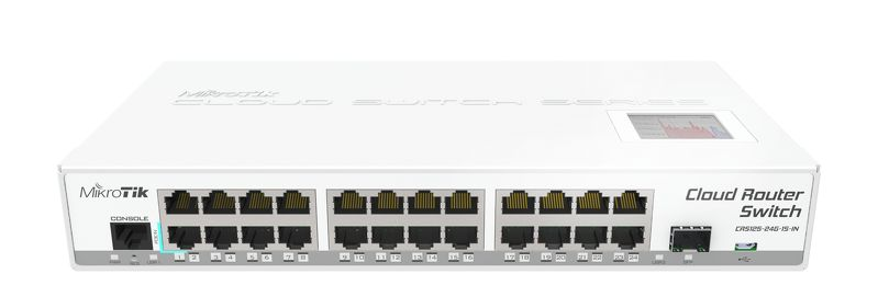 Маршрутизатор MikroTik CRS125-24G-1S-IN 24x10/100/1000Mbps 1xSFP 1xmicroUSB