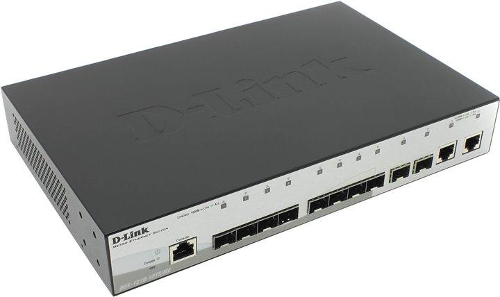 Коммутатор D-Link DGS-1210-12TS/ME/B1A Управляемый коммутатор 2 уровня с 10 портами 1000Base-X SFP и 2 портами 10/100/1000Base-T цены онлайн