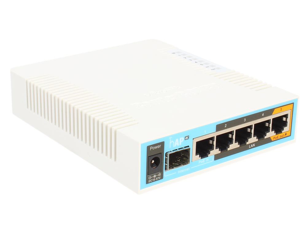 Маршрутизатор MikroTik RB962UiGS-5HacT2HnT Беспроводной маршрутизатор 802.11ac 2.4ГГц и 5ГГЦ 5xLAN 1xUSB 1xSFP все цены