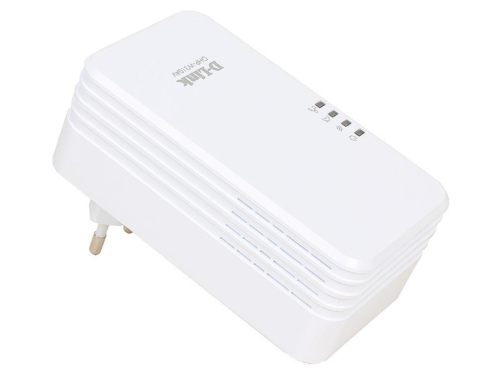 Адаптер PowerLine D-Link DHP-W310AV/B1A Беспроводной PowerLine-адаптер N300 с поддержкой HomePlug AV адаптер powerline d link dhp 346av a1a powerline коммутатор с поддержкой homeplug av
