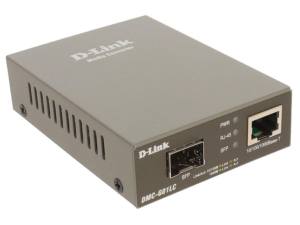цена на Медиаконвертер D-Link DMC-G01LC/A1A Медиаконвертер с 1 портом 100/1000Base-T и 1 портом 1000Base-X SFP