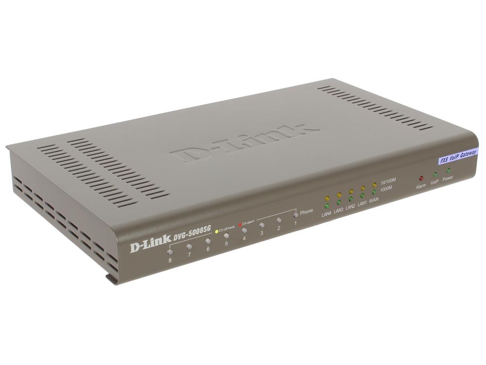 Голосовой шлюз D-Link DVG-5008SG/A1A Голосовой шлюз с 8 FXS-портами, 1 WAN-портом 10/100/1000Base-T и 4 LAN-портами 10/1000Base-T цена 2017