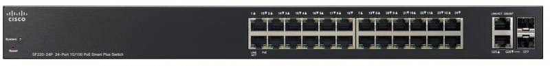 Коммутатор Cisco SF220-24-K9-EU управляемый 24 порта 10/100Mbps коммутатор cisco slm224pt eu