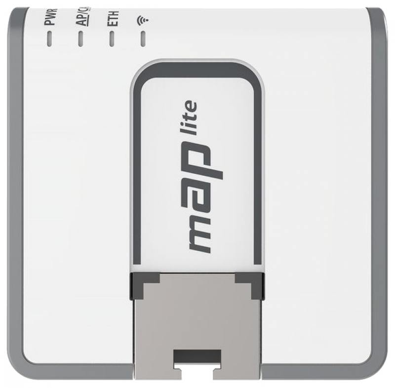 Беспроводной маршрутизатор MikroTik RBmAP2nD 802.11n 300Mbps 2.4 ГГц -1xLAN PoE белый