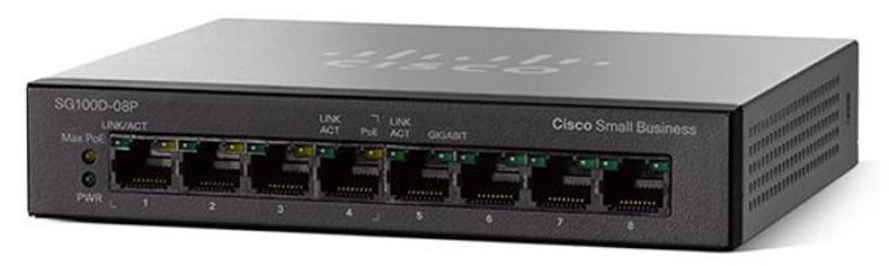 Коммутатор Cisco SB SG110D-08-EU 8 портов 10/100/1000Mbps коммутатор cisco slm224pt eu