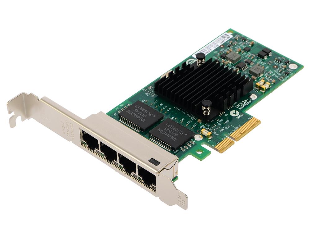 Сетевой адаптер Intel E1G44HTBLK I340-T4 PCI Express 10/100/1000Mbps цена