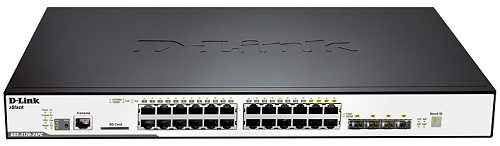 Коммутатор D-LINK DGS-3120-24PC/B1ARI Управляемый 3 уровня с 20 портами 10/100/1000Base-T, 4 комбо-портами 100/1000Base-T/SFP коммутатор d link dgs 1100 06 me a1b управляемый коммутатор 2 уровня с 5 портами 10 100 1000base t и 1 портом 100 1000base x sfp