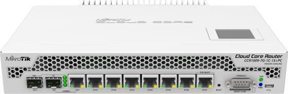 Маршрутизатор MikroTik CCR1009-7G-1C-1S+PC Cloud Core Router 1009-7G-1C-1S+PC with Tilera Tile-Gx9 CPU (9-cores, 1Ghz per core), 2GB RAM, 7xGbit LAN, маршрутизатор 1000m 7port ccr1009 7g 1c 1s pc mikrotik