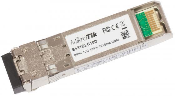 Трансивер Mikrotik S+31DLC10D SFP+ module 10G SM 10km 1310nm Dual LC-connector 1pcs lo sfp 10g lr s 1310nm 10km 10g