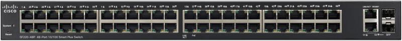 Коммутатор Cisco SB SF220-48P-K9-EU управляемый 48 портов 10/100/1000Mbps цена