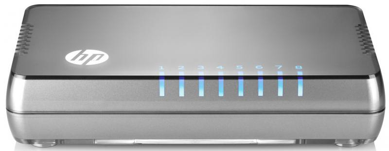 Коммутатор HP 1405 8G v3 неуправляемый 8 портов 10/100/1000Mbps (JH408A) маршрутизатор mikrotik ccr1036 8g 2s 8x10 100 1000mbps 2xsfp 1xmicrousb