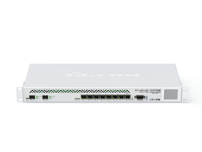 Маршрутизатор MikroTik CCR1036-8G-2S+EM Cloud Core Router 1036-8G-2S+EM with Tilera Tile-Gx36 CPU (36-cores, 1.2Ghz per core), 8GB RAM, 2xSFP+ cage, 8 маршрутизатор mikrotik ccr1036 12g 4s белый