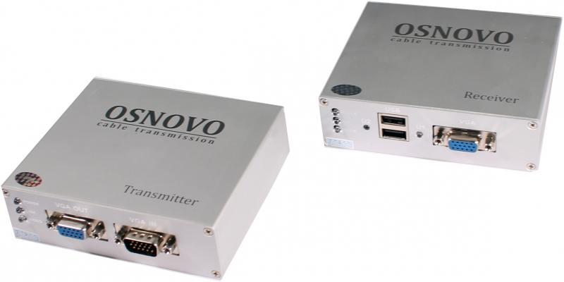 Комплект OSNOVO TA-VKM/3+RA-VKM/3 приемник + передатчик для передачи VGA/Клавиатура/Мышь до 100м цена