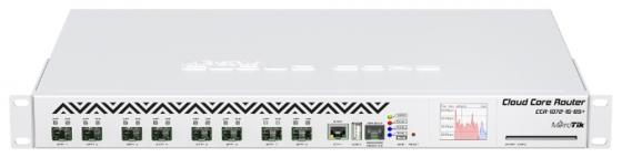 Маршрутизатор MikroTik CCR1072-1G-8S+ Cloud Core Router 1072-1G-8S+ with Tilera Tile-Gx72 CPU (72-cores, 1GHz per core), 16GB RAM, 8xSFP+ cage, 1xGbit маршрутизатор mikrotik ccr1036 8g 2s em cloud core router 1036 8g 2s em with tilera tile gx36 cpu 36 cores 1 2ghz per core 8gb ram 2xsfp cage 8