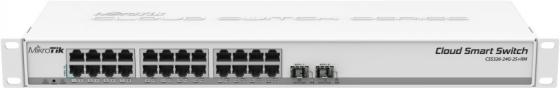 Коммутатор MikroTik CSS326-24G-2S+RM 24х Gigabit RJ45, 2х SFP+ цена 2017