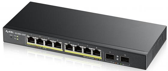 Коммутатор Zyxel GS1900-10HP-EU0101F управляемый 10 портов