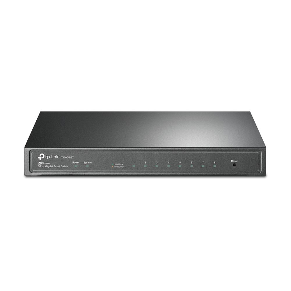 Фото - Коммутатор TP-LINK T1500G-8T JetStream 8-портовый гигабитный Smart коммутатор коммутатор tp link t1700x 16ts jetstream 12 портовый 10gbase t smart коммутатор с 4 слотами 10g sfp