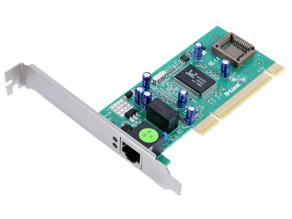 лучшая цена Сетевой адаптер D-Link DGE-530T/D2C Сетевой PCI-адаптер с 1 портом 10/100/1000Base-T OEM