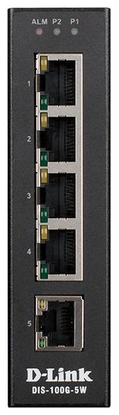 Коммутатор D-Link DIS-100G-5W/A1A Промышленный неуправляемый с 5 портами 10/100/1000Base-T цена