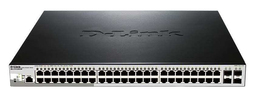 Коммутатор D-Link DGS-1210-52MP/ME/B1A 48G 4SFP 48PoE 370W управляемый цена