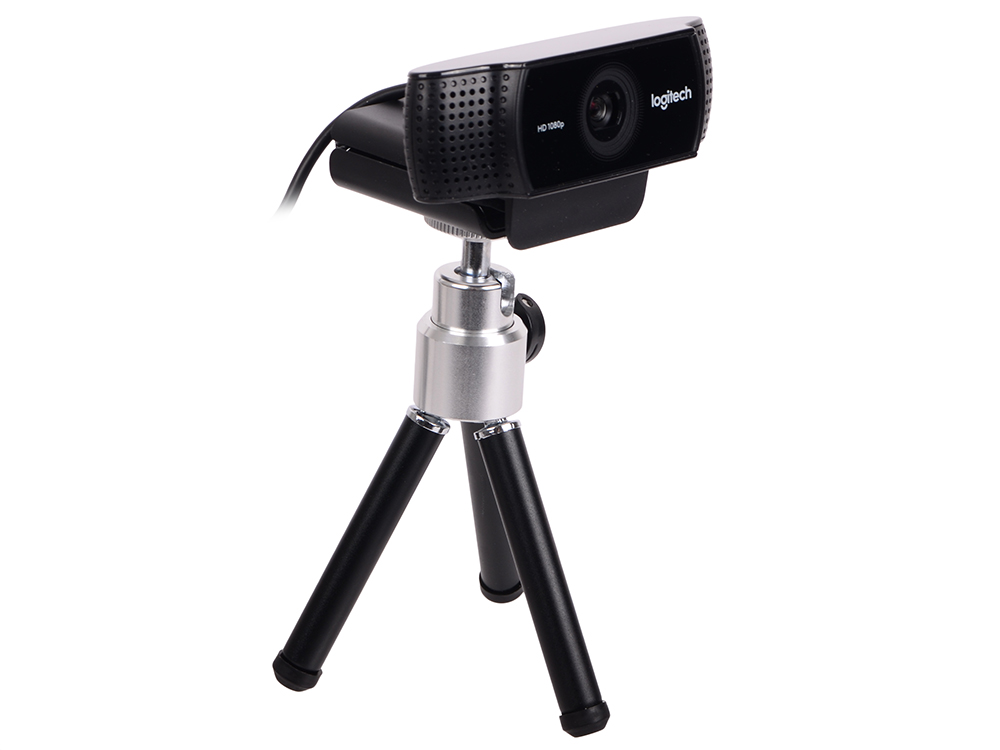 Веб-камера Logitech Pro Stream Webcam C922 HD 2Мп, 1920x1080, 78 градусов, микрофон, USB цена 2017