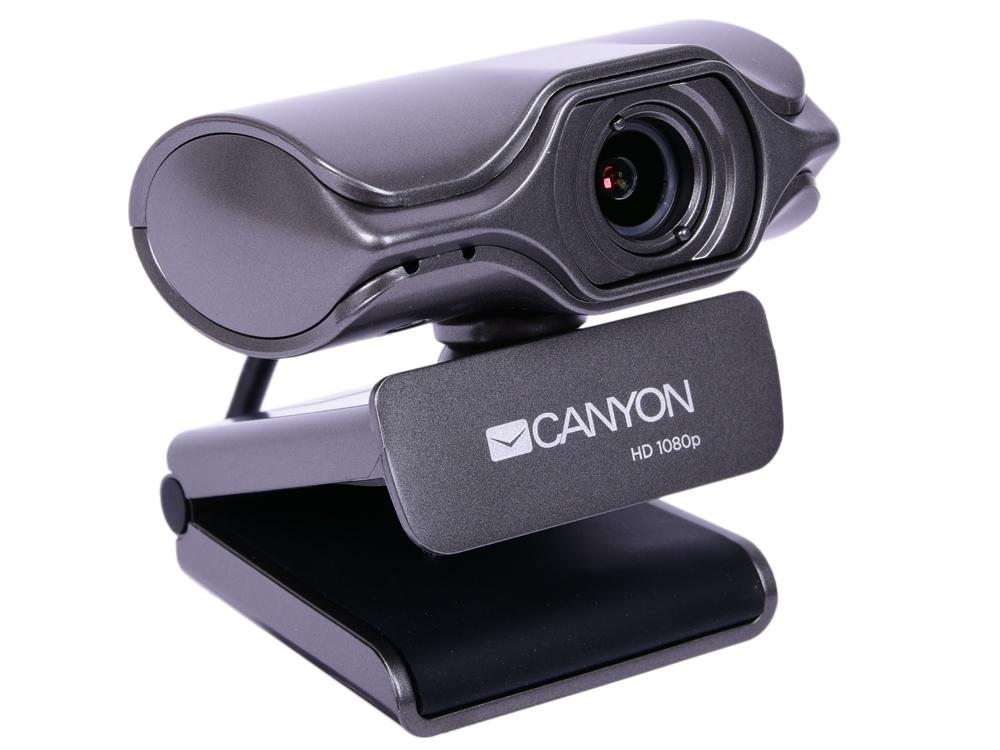 Веб-камера Canyon CNS-CWC6 черный 3.2 МПикс, 2K Quad HD, USB 2.0 крепление для штатива, автофокус, микрофон с автоматическим шумоподавлением цена и фото