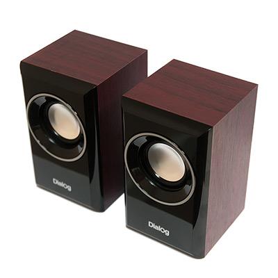 Колонки Dialog Stride AST-15UP CHERRY - 2.0, 6W RMS, вишневые, питание от USB колонки dialog melody am 11b 2x3вт rms пластик черный
