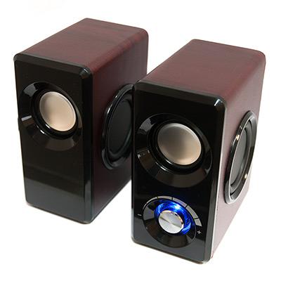 лучшая цена Колонки Dialog Stride AST-25UP CHERRY - 2.0, 6W RMS, вишневые, питание от USB