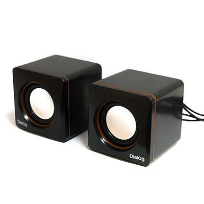 Колонки Dialog Colibri AC-04UP BLACK-ORANGE - 2.0, 6W RMS, черно-оранжевые, пит. от USB