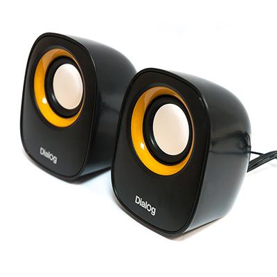 Фото - Колонки Dialog Colibri AC-06UP 2.0 Black/Yellow 2 x 3 Вт / 200-20000 Гц / USB колонки defender q3 2 0 black 2x3 вт 50 20000 гц mini jack usb