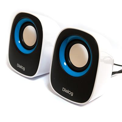 лучшая цена Колонки Dialog Colibri AC-06UP BLACK-WHITE - 2.0, 6W RMS, черно-белые, питание от USB