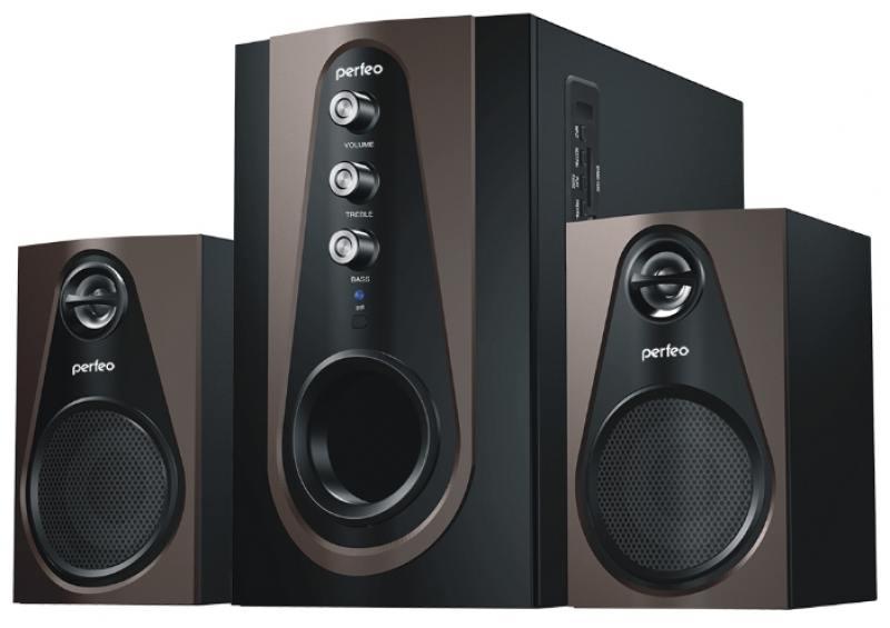 Колонки Perfeo Scenic PF-103-BT 2x5 + 20Вт черно-коричневый