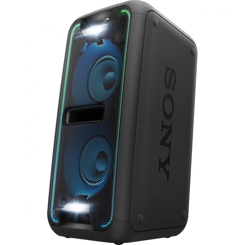 Беспроводная портативная акустика Sony GTK-XB7 Стильная минисистема для вечеринок (черный цвет), 470 Вт, NFC и Bluetooth, USB, Эквалайзер, Extra Bass беспроводная портативная акустика sony srs xb21 синий bluetooth 4 2 nfc micro usb стереофонический мини разъем extra bass party booster live