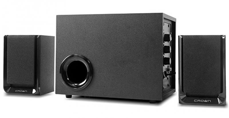 Колонки Crown CMS-410 2x12Вт + 16Вт черный crown cmccg 4415w