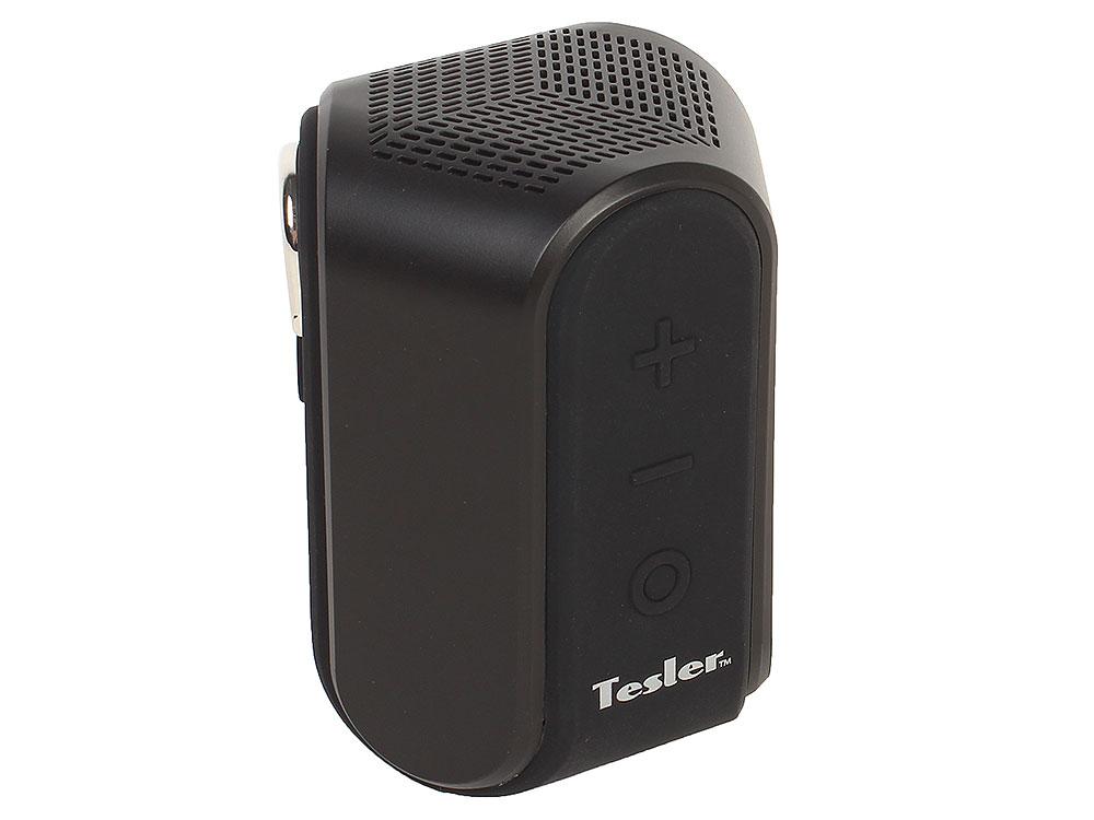 Фото - Портативная акустическая система TESLER PSS-222 Черный, Bluetooth, Аккумулятор 3,7В 800МАч, Водозащита IPX5 беспроводная колонка tesler pss 444 green