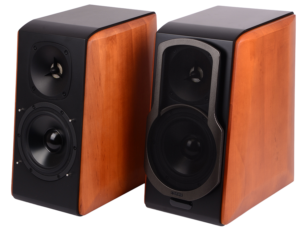 Колонки Edifier S2000 Pro 2.0, Brown (S2000PRO) (124 Вт, 48 - 20 000 Гц, Bluetooth, mini Jack, Optical, Coaxial, 220V) стойки edifier ss03 for s3000 pro