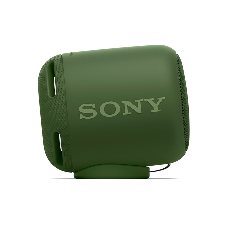 Портативная колонка Sony SRS-XB10 Green 5 Вт, 20–20 000 Гц, NFC, микрофон, Bluetooth, IP7, батарея, USB портативная колонка creative woof 3 chrom 3 вт микрофон bluetooth mini jack батарея usb
