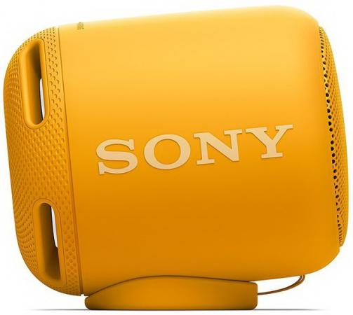 Портативная колонка Sony SRS-XB10 Yellow 5 Вт, 20–20 000 Гц, NFC, микрофон, Bluetooth, IP7, батарея, USB портативная колонка creative woof 3 chrom 3 вт микрофон bluetooth mini jack батарея usb