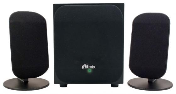 Колонки Ritmix SP-2100 черный 2x1.5 Вт + 3 Вт, 20-18000 Гц, mini Jack, USB колонки genius sp u115 2x0 75 вт usb черный