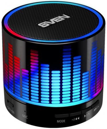 Портативная акустика Sven PS-47 3Вт Bluetooth черный 3 Вт,100 - 20000 Гц, FM, Bluetooth, microSD, USB портативная акустика perfeo sound ranger 2 вт fm mp3 usb microsd bl 5c 1000mah черный pf sv922bk