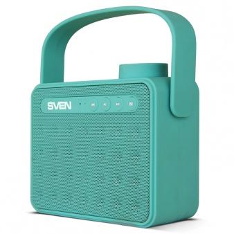 Портативная колонка АС SVEN PS-72 Mint 2.0, 6Вт, 150 – 20 000 Гц, Bluetooth, FM, USB, microSD